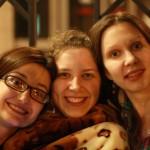 dem girls in Chisinau: Kristina, Ilja, Katja.