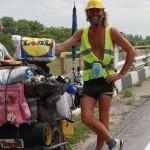 Roy aus Wales. Viel zu abgefahren - zu Fuß schon über 4 Jahre durch ganz Europa unterwegs